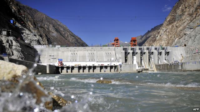 FILE - Picture shows the Zangmu Hydropower Station in Gyaca county in Lhoka, or Shannan prefecture, southwest China's Tibet region, Nov. 23, 2014.