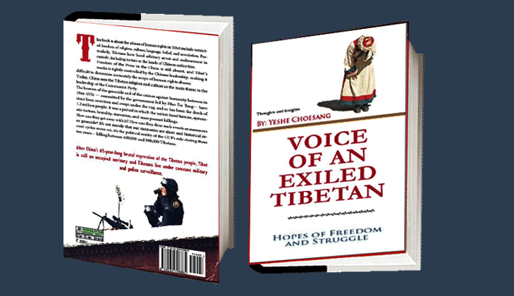 "The Front and Back Cover of the English language book, ""Voice of An Exiled Tibetan."" Credit: TPI"
