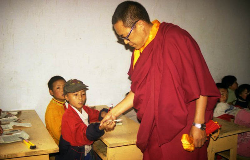 Trulku Tenzin Delek was visiting his school in Nyagchu county eastern Tibet. Photo: TPI