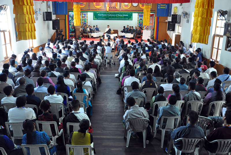 The first parents conference at Lower TCV school in Dharamshala, India, August 11, 2015, Around 250 participants are taking part in the meeting. Photo: CTA/DIIR