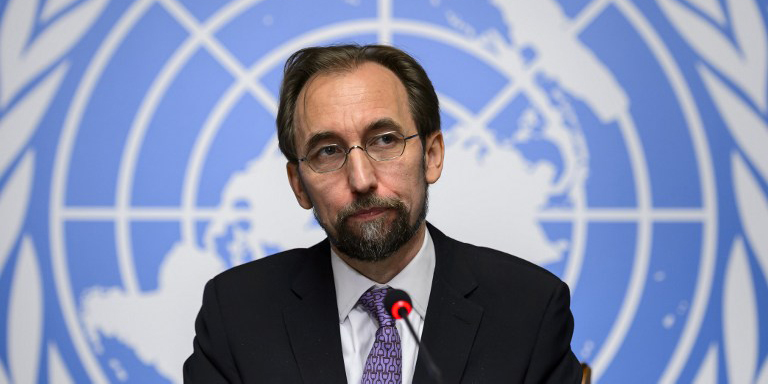 U.N. High Commissioner for Human Rights Zeid Ra'ad al Hussein. Photo: Media file