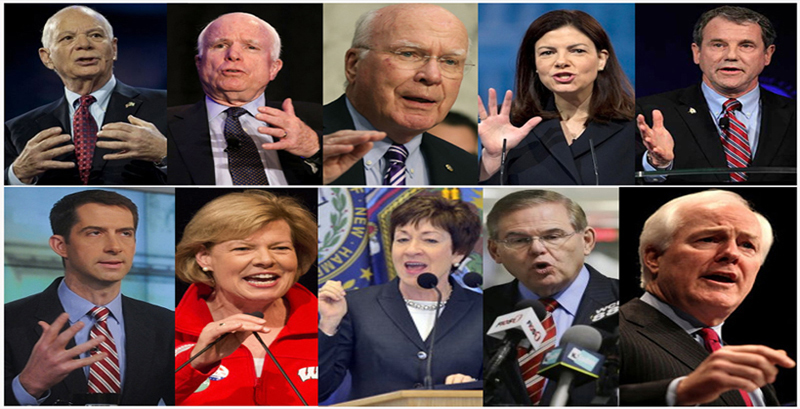 The US lawmakers who wrote the letter US President Barack Obama, include Senator Ben Cardin (D-MD), Ranking Member of the Senate Foreign Relations Committee, and Senator John McCain (R-AZ), Chairman of the Senate Armed Services Committee, along with Senators Pat Leahy (D-VT), Kelly Ayotte (R-NH), Sherrod Brown (D-OH), Tom Cotton (R-AR), Tammy Baldwin (D-WI), Susan Collins (R-ME), Robert Menendez (D-NJ), and John Cornyn (R-TX). Photo: TPI