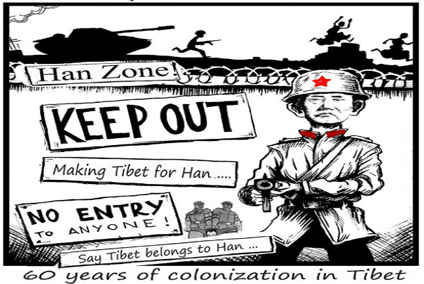 60 years of colonisation in Tibet. Photo: File