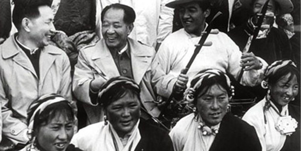 Hu Yaobang's visit to Tibet Autonomous Region in 1980s. Photo: File