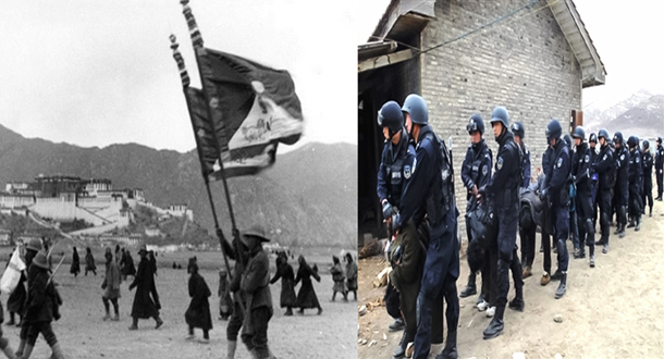 Tibet: Before and after Chinese invasion. Photo: TPI/file