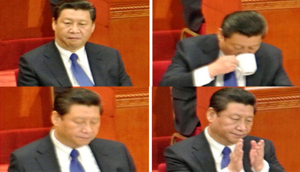 President Xi Jinping appeared listless at the Great Hall of the People on March 3.