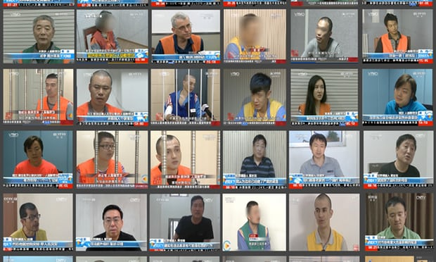 Chinese courts have a conviction rate over 99% and cases rely heavily on confessions Photograph: News Media Websites