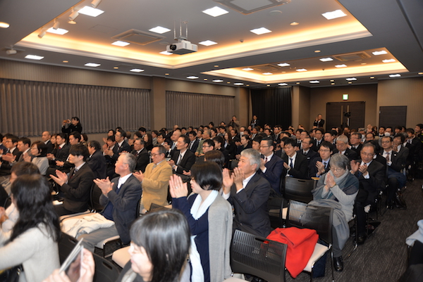 Members of audience listening to Sikyong's talk in Osaka, Japan, on 22 Feb 2018