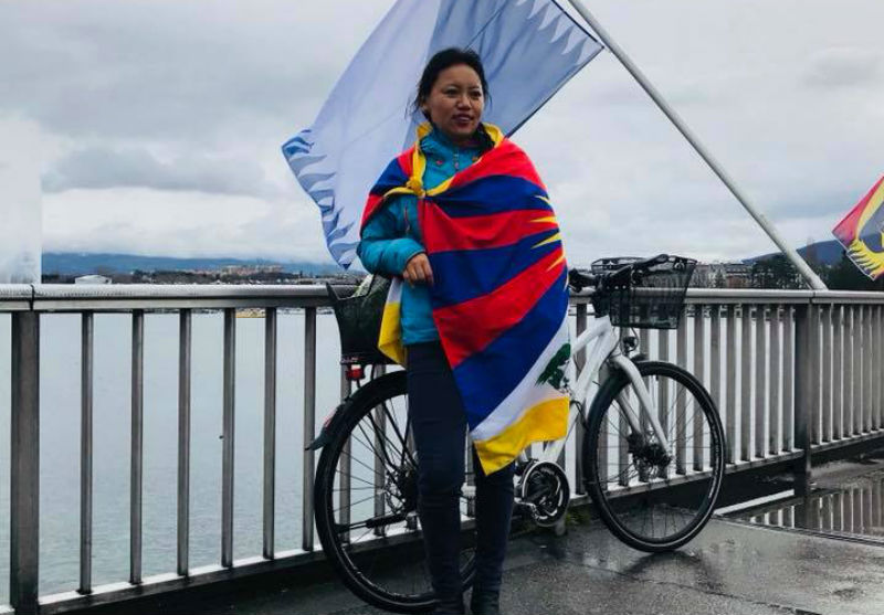 Cycling for Tibet in Geneva:  Dekyi Dolkar