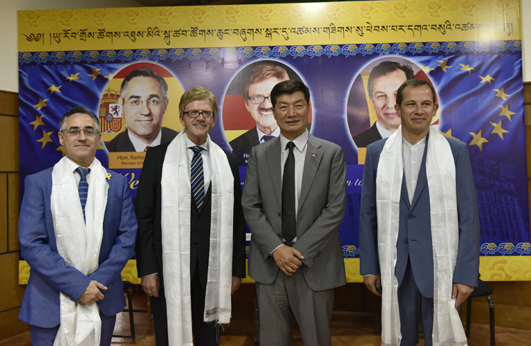 His Holiness the Dalai Lama of Tibet meets EP delegation on Europe Day