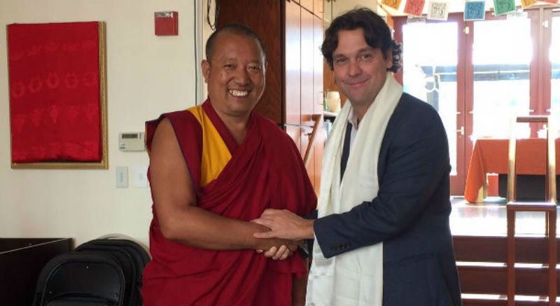 Geshe Nyima, cousin of Tenzin Delek Rinpoche with Matteo Mecacci, the President of the International Campaign for Tibet, Washington, D.C., USA, September 18. Photo: ICT