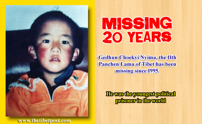 The 11th Panchen Lama of Tibet Gedhun Choekyi Nyima was the youngest political prisoner in the world. Photo: TPI