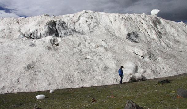 A deadly avalanche in western Tibet: On July 17, more than 70 million tons of ice broke off from the Aru glacier in the mountains of western Tibet and tumbled into a valley below, taking the lives of nine nomadic yak herders living there. To perform a kind of forensic analysis of the avalanche, researchers from the Chinese Academy of Sciences joined with glaciologists from The Ohio State University; They concluded that the cause of the avalanche was likely climate change. Photo by the Chinese Academy of Sciences, courtesy of The Ohio State University.