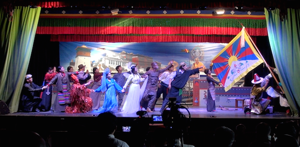 Artistes performing a play on 'Unity' as the theme of Yarkyi 2016, on the occasion of the 57th founding anniversary of TIPA, 28 May 2016. Photo: CTA/DIIR