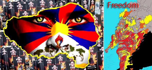 Self-immolation in Tibet terms China worst violator of human rights . Photo: TDT